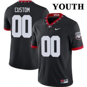 Youth Georgia Bulldogs #00 Customized Mascot 100th Anniversary Untouchable Black College Football Jersey 620856-263