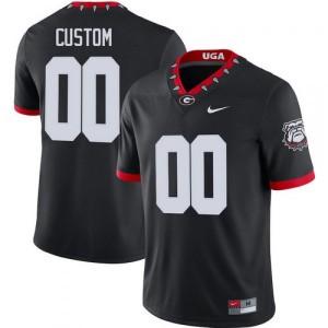 Men Georgia Bulldogs #00 Customized Mascot 100th Anniversary Untouchable Black College Football Jersey 951985-402