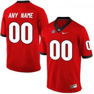 Men Georgia Bulldogs #00 Customized Elite Red College Football Jersey 141573-852