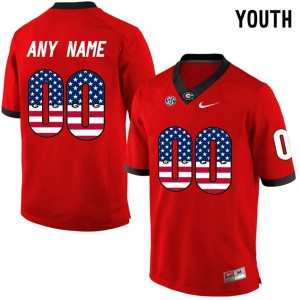 Men Georgia Bulldogs #00 Customized Elite Red College Football Jersey 556782-285