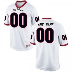 Men Georgia Bulldogs #00 Customized Elite White College Football Jersey 216113-114