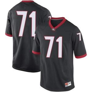 Men Georgia Bulldogs #71 Andrew Thomas Black Game College Football Jersey 877110-112