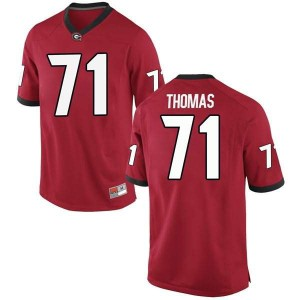 Men Georgia Bulldogs #71 Andrew Thomas Red Game College Football Jersey 552802-979
