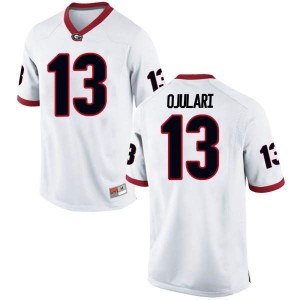 Men Georgia Bulldogs #13 Azeez Ojulari White Replica College Football Jersey 550227-293