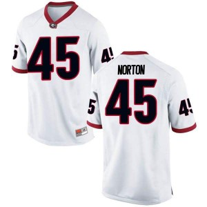 Men Georgia Bulldogs #45 Bill Norton White Replica College Football Jersey 417544-606