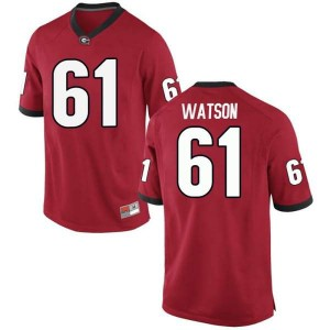 Men Georgia Bulldogs #61 Blake Watson Red Game College Football Jersey 218873-583
