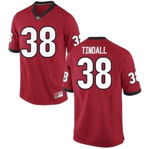 Men Georgia Bulldogs #38 Brady Tindall Red Replica College Football Jersey 953931-660