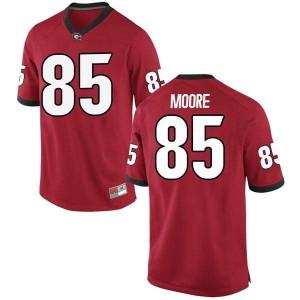 Men Georgia Bulldogs #85 Cameron Moore Red Game College Football Jersey 751201-315