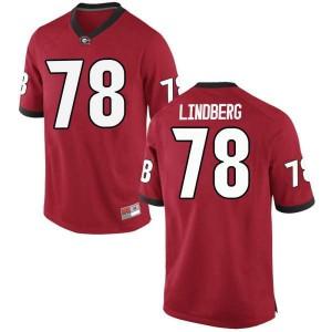 Men Georgia Bulldogs #78 Chad Lindberg Red Replica College Football Jersey 683308-298