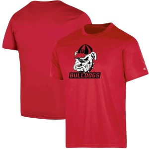 Men Georgia Bulldogs Red Champion Logo Impact College Football T-Shirt 783073-377
