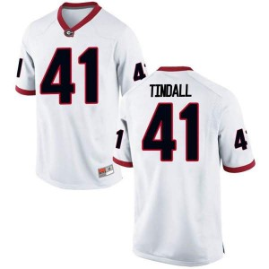 Men Georgia Bulldogs #41 Channing Tindall White Game College Football Jersey 409327-159