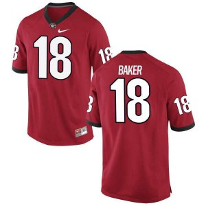 Men Georgia Bulldogs #18 Deandre Baker Red Replica College Football Jersey 239171-840