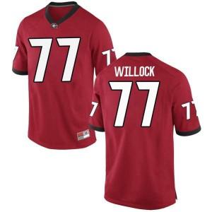 Men Georgia Bulldogs #77 Devin Willock Red Replica College Football Jersey 831198-352
