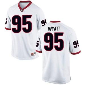 Men Georgia Bulldogs #95 Devonte Wyatt White Replica College Football Jersey 427542-842
