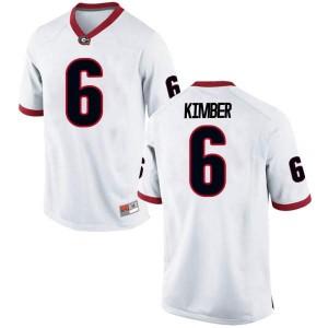 Men Georgia Bulldogs #6 Jalen Kimber White Game College Football Jersey 672308-368