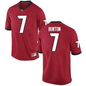 Men Georgia Bulldogs #7 Jermaine Burton Red Game College Football Jersey 834503-588