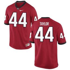 Men Georgia Bulldogs #44 Juwan Taylor Red Authentic College Football Jersey 587178-455