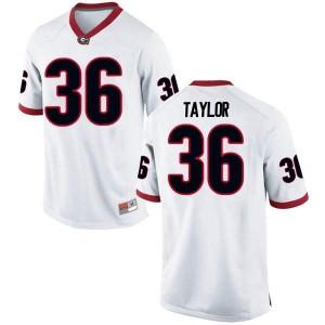 Men Georgia Bulldogs #36 Latavious Brini White Replica College Football Jersey 789542-483