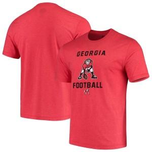 Men Georgia Bulldogs Red Life is Good Football Jake College Football T-Shirt 370844-862