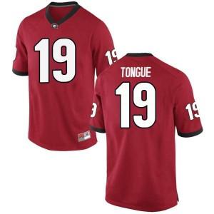 Men Georgia Bulldogs #19 Makiya Tongue Red Game College Football Jersey 810802-635