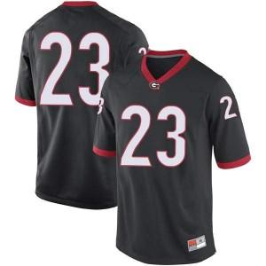 Men Georgia Bulldogs #23 Mark Webb Black Game College Football Jersey 144883-657