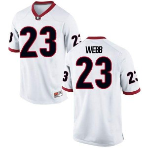 Men Georgia Bulldogs #23 Mark Webb White Replica College Football Jersey 221809-894