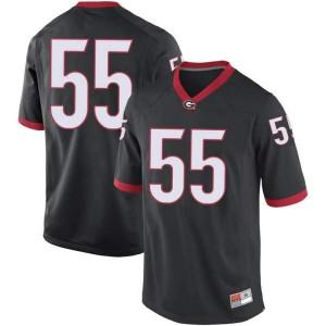 Men Georgia Bulldogs #55 Miles Miccichi Black Replica College Football Jersey 866802-390
