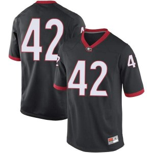 Men Georgia Bulldogs #42 Mitchell Werntz Black Replica College Football Jersey 616717-487