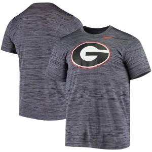 Men Georgia Bulldogs Tonal Velocity Legend Performance Black College Football T-Shirt 406292-778