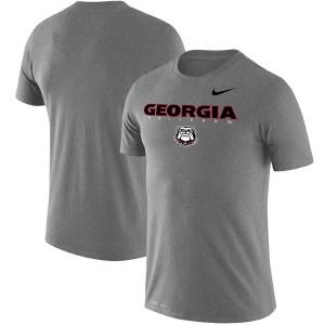 Men Georgia Bulldogs Facility Legend Performance Gray College Football T-Shirt 371150-447
