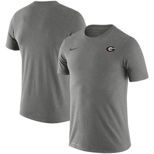 Men Georgia Bulldogs Team Heathered Charcoal Legend Performance Logo College Football T-Shirt 351184-128