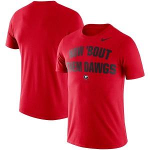 Men Georgia Bulldogs Phrase Performance Red College Football T-Shirt 731801-787