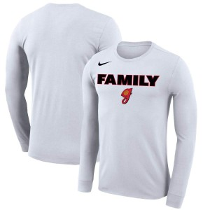 Men Georgia Bulldogs Georgia Lady Dawgs March Madness Family on Court Legend Basketball Performance White Long Sleeve College Football T-Shirt 380538-379