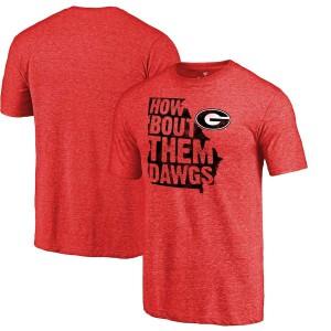 Men Georgia Bulldogs Them Dawgs Hometown Collection Tri-Blend Red College Football T-Shirt 179349-523