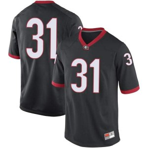 Men Georgia Bulldogs #31 Reid Tulowitzky Black Game College Football Jersey 902539-145