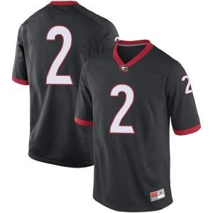 Men Georgia Bulldogs #2 Richard LeCounte Black Game College Football Jersey 113635-826