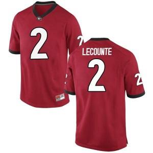 Men Georgia Bulldogs #2 Richard LeCounte Red Replica College Football Jersey 303052-148