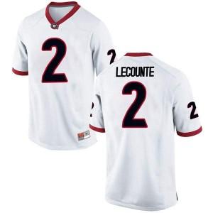 Men Georgia Bulldogs #2 Richard LeCounte White Replica College Football Jersey 963331-489
