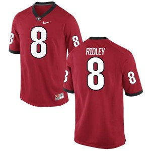 Men Georgia Bulldogs #8 Riley Ridley Red Authentic College Football Jersey 964296-359