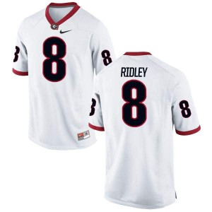 Men Georgia Bulldogs #8 Riley Ridley White Authentic College Football Jersey 915376-486