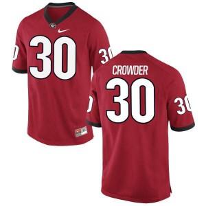 Men Georgia Bulldogs #30 Tae Crowder Red Replica College Football Jersey 828198-747