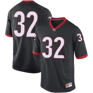 Men Georgia Bulldogs #32 Ty James Black Game College Football Jersey 888168-470