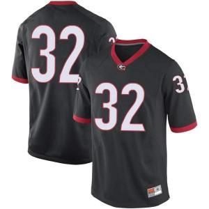 Men Georgia Bulldogs #32 Ty James Black Replica College Football Jersey 605499-956