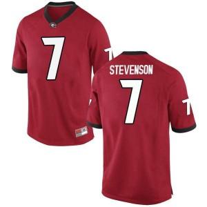 Men Georgia Bulldogs #7 Tyrique Stevenson Red Replica College Football Jersey 128298-963
