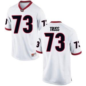 Men Georgia Bulldogs #73 Xavier Truss White Replica College Football Jersey 169672-910