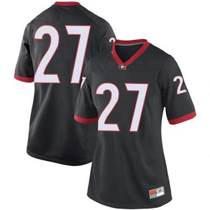 Women Georgia Bulldogs #27 Austin Kirksey Black Game College Football Jersey 573750-157