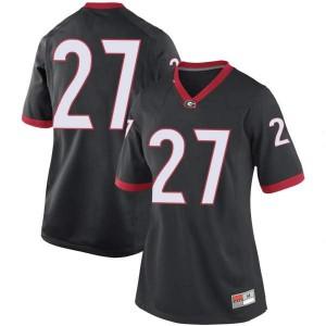 Women Georgia Bulldogs #27 Austin Kirksey Black Replica College Football Jersey 477231-904