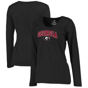 Women Georgia Bulldogs Campus Black Long Sleeve College Football T-Shirt 311461-517