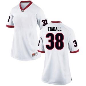 Women Georgia Bulldogs #38 Brady Tindall White Replica College Football Jersey 634776-442
