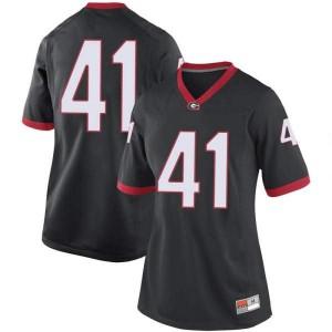 Women Georgia Bulldogs #41 Channing Tindall Black Game College Football Jersey 801471-355